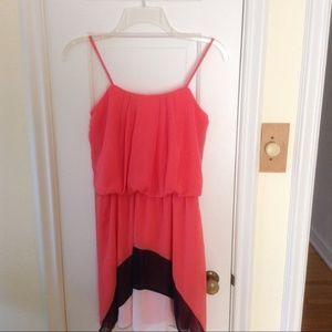 Sweet Storm Coral Chiffon Dress